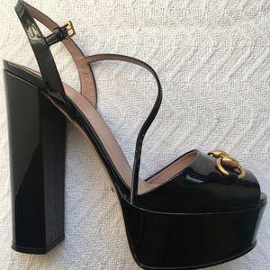 Authentic Gucci Claudie Horsebit Platform Sandal